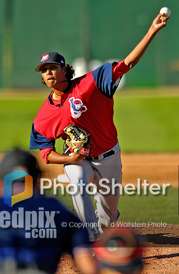 2 September 2007:  Lowell Spinners pitcher Felix Doubront on the mound against the Vermont Lake Monsters at Historic Centennial Field in Burlington, Vermont. The Spinners defeated the Lake Monsters 7-3 in New York-Penn League action...Mandatory Photo Credit: Ed Wolfstein Photo