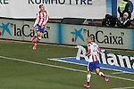 Atletico de Madrid's Antoine Griezmann celebrates goal during La Liga match.February 21,2015. (ALTERPHOTOS/Acero)