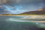 Isle of Lewis and Harris, Scotland: Storm clouds over Luskentyre beach on South Harris Island