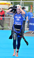 Photo: Paul Greenwood/Richard Lane Photography. Strathclyde Park Elite Triathlon. 17/05/2009. .England's Vicki Holland in the transition stage
