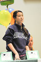 The Harker School - US - Upper School - US students who are bound for college to play collegiate athletics, in a 2nd ceremony for US athletes this school year! - Photo by Kyle Cavallaro
