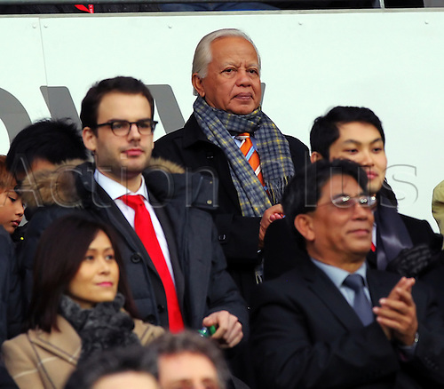 29.12.2012 Cardiff, Wales. Tun Mohd Khalil bin Yaakob, who was 75 today, was the guest of Cardiff City Malaysian Owner and Chairman/Chief Executive of the Berjaya Corp Berhad Tan Sri Dato Seri Vincent Tan Chee Yioun at the Championship game between Cardiff City and Millwall from the Cardiff City Stadium.