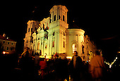 Prague, Czech Republic. St Nicholas church in the Old Town Square (Staromestske Namesti).