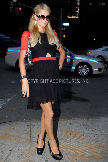 WWW.ACEPIXS.COM....September 7 2012, New York City....Paris Hilton at Spring 2013 Mercedes-Benz Fashion Week on September 7, 2012 in New York City.....By Line: Nancy Rivera/ACE Pictures......ACE Pictures, Inc...tel: 646 769 0430..Email: info@acepixs.com..www.acepixs.com
