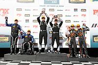 #12 eEuroparts.com Racing, Audi RS3 LMS TCR, TCR: Kenton Koch, Tom O'Gorman, #54 JDC-Miller MotorSports, Audi RS3 LMS TCR, TCR: Michael Johnson, Stephen Simpson, #77 Compass Racing, Audi RS3 LMS TCR, TCR: Britt Casey Jr, Tom Long celebrate on the podium