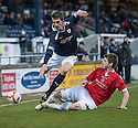 Deveronvale's Chris Blackhall challenges Raith's Grant Anderson ...