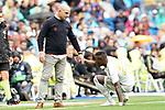Real Madrid's Vinicius Junior (r) and Levante UD's coach Paco Lopez during La Liga match. September 14,2019. (ALTERPHOTOS/Acero)