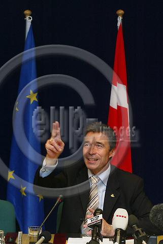 BRUSSELS - BELGIUM - 16 JUNE 2005 --The Danish Prime Minister Anders FOGH RASMUSSEN. PHOTO: ERIK LUNTANG / EUP-IMAGES..