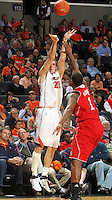 March 1, 2011 - Charlottesville, Virginia-USA; Virginia Cavaliers forward Will Sherrill (22) shoots the ball over North Carolina State Wolfpack forward Richard Howell (1) during an NCAA basketball game at the John Paul Johns arena. Virginia won 69-58. Photo/Andrew Shurtleff (Credit Image: © Andrew Shurtleff/ZUMApress.com)