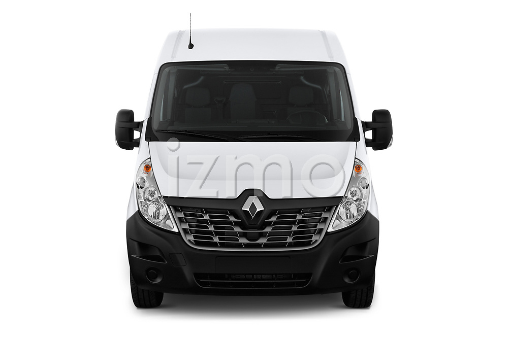 Car photography straight front view of a 2019 Renault Master-Z.E. Base 4 Door Cargo Van