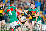 Daithi Casey  Dr Crokes in action against Martin McMahon Kilmurry Ibrickane in the Munster Senior Club Championship Semi Final at Lewis Road, Killarney on Sunday.