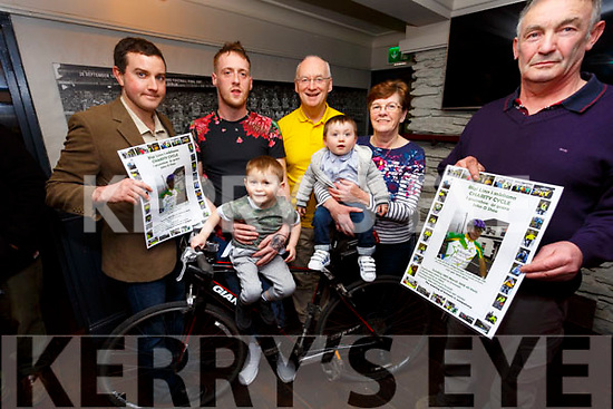 The Annual John O'Shea Memorial Cycle was launched on Thursday night last, the cycle will take place on Sunday 18th March from Dromid Community Centre, pictured here l-r; Eoin Ryan, Kieran O'Shea, James O'Shea, Dermot Walsh, John Joan & Mike O'Shea.