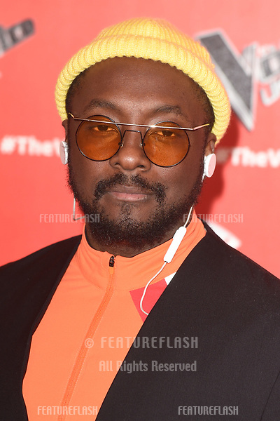 """LONDON, UK. January 03, 2019: Will.i.am at the launch photocall for the 2019 series of """"The Voice"""" London.<br /> Picture: Steve Vas/Featureflash"""