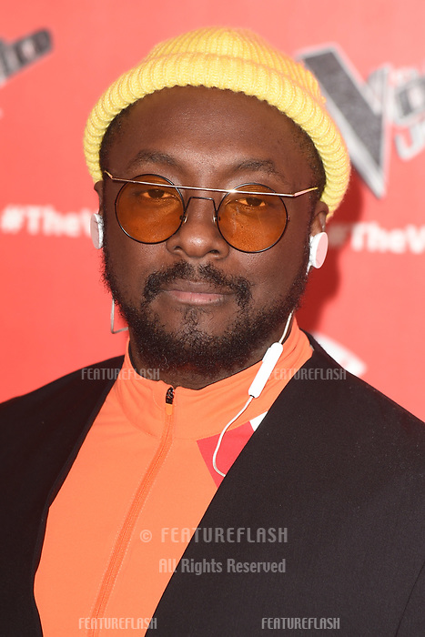 "LONDON, UK. January 03, 2019: Will.i.am at the launch photocall for the 2019 series of ""The Voice"" London.<br /> Picture: Steve Vas/Featureflash"