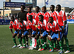 02 July 2007: Gambia's starters pose for a team photo. Front row (l to r): Sainey Nyassi, Pa Modou Jagne, Ken Jammeh, Abdoulie Mansally, Alagie Ngum. Back row: Joseph Gomez, Tijan Jaiteh, Ebrima Sohna, Ousman Jallow, Mandou Bojang, Pierre Gomez. At the National Soccer Stadium, also known as BMO Field, in Toronto, Ontario, Canada. Mexico's Under-20 Men's National Team defeated Gambia's Under-20 Men's National Team 3-0 in a Group C opening round match during the FIFA U-20 World Cup Canada 2007 tournament.