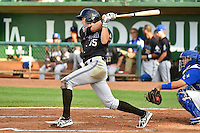 Dane McFarland (35) of the Missoula Osprey at bat against the Ogden Raptors in Pioneer League action at Lindquist Field on August 4, 2014 in Ogden, Utah.  (Stephen Smith/Four Seam Images)