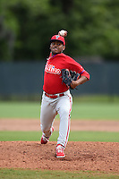 Philadelphia Phillies pitcher Ulises Joaquin (65) during a minor league spring training intrasquad game on March 27, 2015 at the Carpenter Complex in Clearwater, Florida.  (Mike Janes/Four Seam Images)