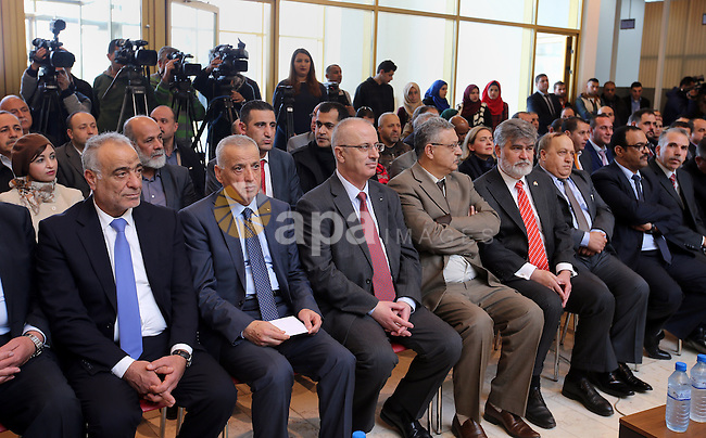 Palestinian Prime Minister, Rami Hamdallah, attends the opening the new Court of Tulkarem, in the West bank city of Tulkarem, on February 9, 2017. Photo by Prime Minister Office