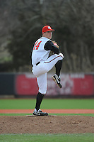 Rutgers University Scarlet Knights pitcher Max Herrmann (44) during game game 1 of a double header against the University of Houston Cougers at Bainton Field on April 5, 2014 in Piscataway, New Jersey. Rutgers defeated Houston 7-3.      <br />  (Tomasso DeRosa/ Four Seam Images)