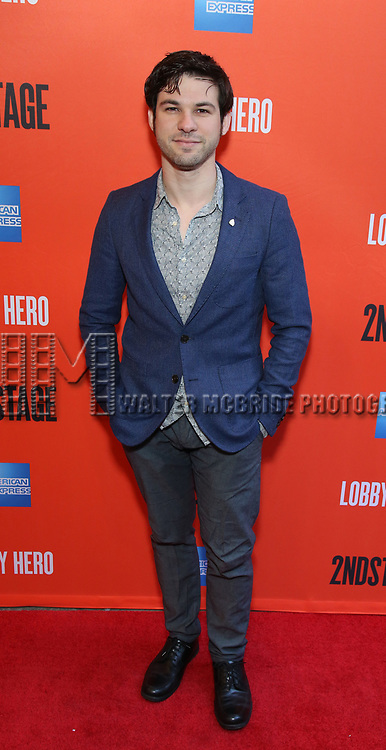 """Etai Benson attending the Broadway Opening Night Performance of  """"Lobby Hero"""" at The Hayes Theatre on March 26, 2018 in New York City."""
