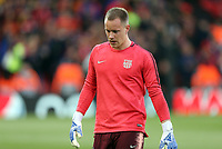 Barcelona's Marc-Andre ter Stegen during the pre-match warm-up <br /> <br /> Photographer Rich Linley/CameraSport<br /> <br /> UEFA Champions League Semi-Final 2nd Leg - Liverpool v Barcelona - Tuesday May 7th 2019 - Anfield - Liverpool<br />  <br /> World Copyright © 2018 CameraSport. All rights reserved. 43 Linden Ave. Countesthorpe. Leicester. England. LE8 5PG - Tel: +44 (0) 116 277 4147 - admin@camerasport.com - www.camerasport.com