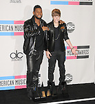 Usher and Justin Bieber at The 2010 American Music  Awards held at Nokia Theatre L.A. Live in Los Angeles, California on November 21,2010                                                                   Copyright 2010  DVS / Hollywood Press Agency