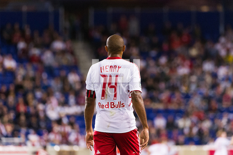 Thierry Henry (14) of the New York Red Bulls. The New York Red Bulls defeated Toronto FC 4-1 during a Major League Soccer (MLS) match at Red Bull Arena in Harrison, NJ, on September 29, 2012.