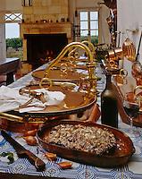 Europe/France/Aquitaine/33/Gironde/Saint-Yzans-de-Médoc: Entrecote Maitre de Chaix ou Entrecote bordelaise dans la Cuisine des Vendanges de Château  Loudenne, Médoc Cru Bourgeois-