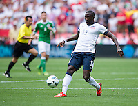 Jozy Altidore (17) of the USMNT passes the ball during the game at RFK Stadium in Washington DC.  The USMNT defeated Germany, 4-3, in a friendly match.
