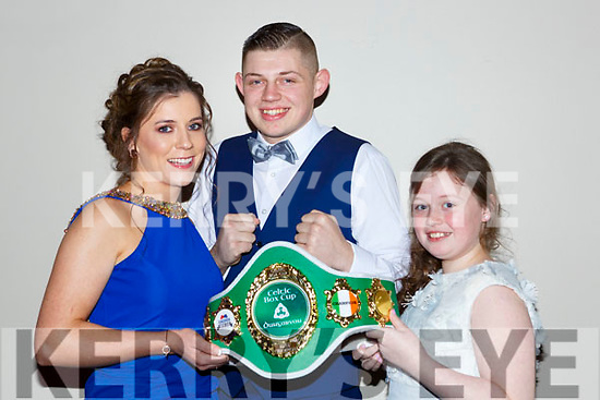 Milltown Boxer Kevin Cronin Casten Vale who won the Munster Heavyweight Title with Marie Dineena nd Kate Cronin