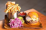 Durham, North Carolina - Monday September 23, 2015 - Dry-Aged House Blend Burger.