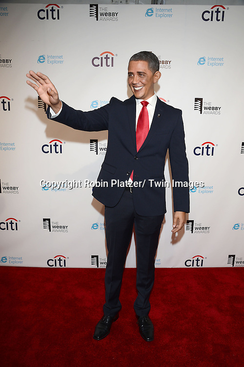 Reggie Brown as Barack Obama attends the 17th Annual Webby Awards on May 21, 2013 at Cipriani Wall Street in New York City.