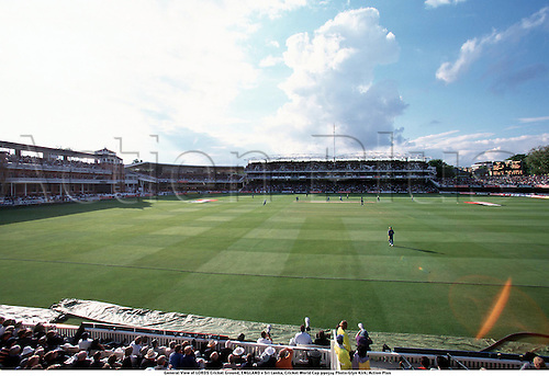 General View of LORDS Cricket Ground, ENGLAND v Sri Lanka, Cricket World Cup 990514 Photo:Glyn Kirk/Action Plus...Venues.1999.grounds.venue