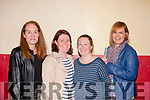 Fund Raiser<br /> -----------------<br /> Checking their numbers at the Clogher National School,Ballymac bingo fundraiser in the Community hall were,L-R Karen Daly,Jennifer Reidy,Sarah Keane,Lisa Keane and Lisa O'Connor.
