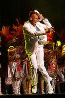 Brazilian music and dancing - Samba show for tourists at Cidade do Samba ( Samba City), Rio de Janeiro nightlife, Brazil - man franticly dancing samba.