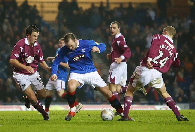 Kris Boyd tiptoes through the St Johnstone defence