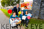 Sean Collins, Jessica O'Connor, Michelle Mesaros and Fionn de Quadros pictured with Deputy Principal Pat Fleming announcing details of their Monster Bingo event taking place on October 11th at 3pm in the school gym.