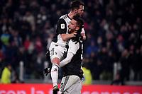 Rodrigo Bentancur of Juventus celebrates with Miralem Pjanic after scoring the goal of 2-0 <br /> Torino 22/01/2020 Juventus Stadium <br /> Football Italy Cup 2019/2020 <br /> Juventus FC - AS Roma <br /> Photo Federico Tardito / Insidefoto
