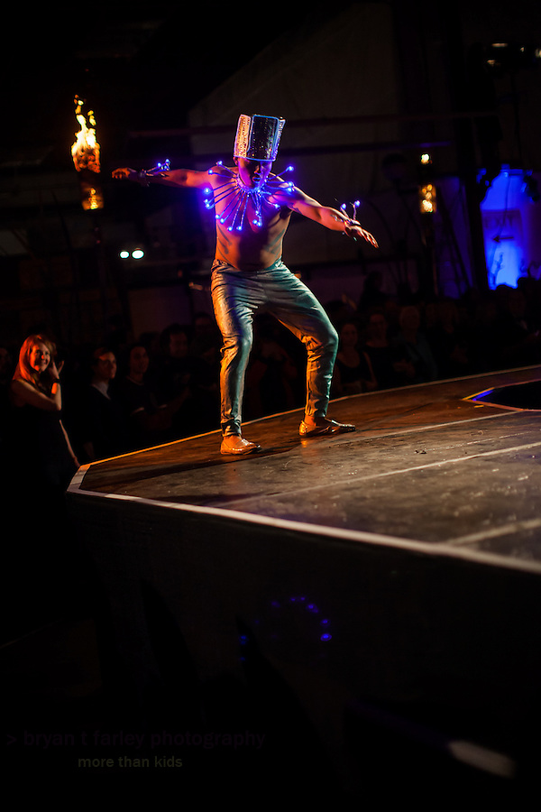 The Crucible's Hot Couture 2015 fashion show is held on January 9 and 10, 2015 in Oakland, California. The avante garde fashion show features local artists and celebrates the four elements: air, earth, fire and water.