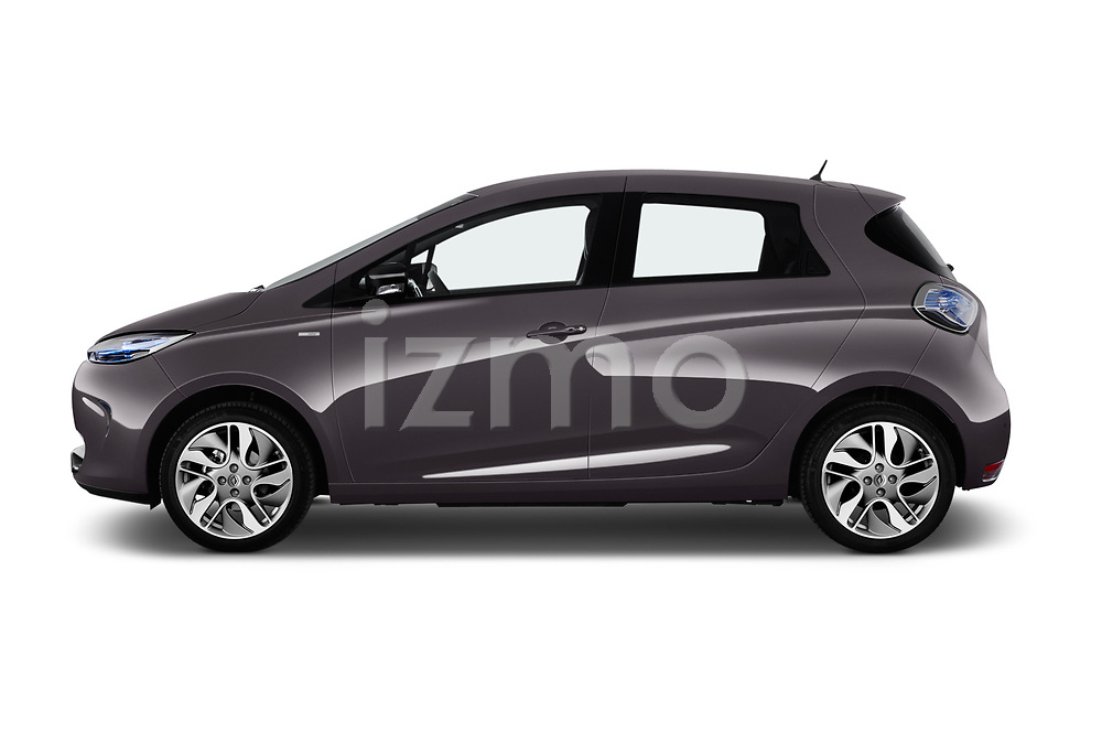 Car driver side profile view of a 2017 Renault ZOE Bose Edition 5 Door Hatchback