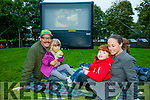 l-r Nino Kelly, Leo Kelly, Michael Kelly and Ailbhe Keoghan enjoying the Open Air Film screening of  Shaun the Sheep  in Pearse Park part of Culture Night on Friday