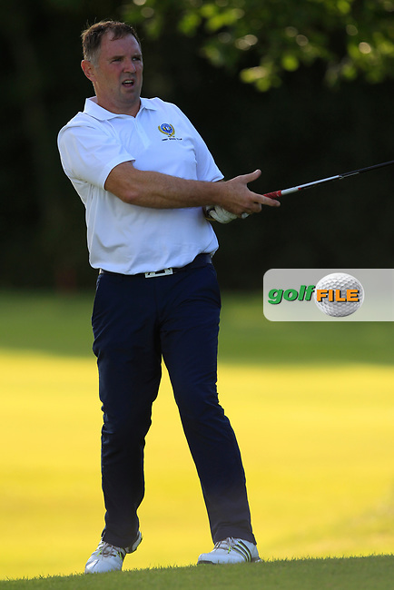 Barry Laverty (Warrenpoint) during the final of the AIG Jimmy Bruen Ulster Final at Dungannon Golf Club, Dungannon, Tyrone, Ireland. 11/08/2017<br /> Picture: Fran Caffrey / Golffile