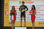 Lilian Calmejane (FRA) Direct Energie wins the days combativity award at the end of Stage 3 of the 104th edition of the Tour de France 2017, running 212.5km from Verviers, Belgium to Longwy, France. 3rd July 2017.<br /> Picture: Eoin Clarke | Cyclefile<br /> <br /> All photos usage must carry mandatory copyright credit (&copy; Cyclefile | Eoin Clarke)