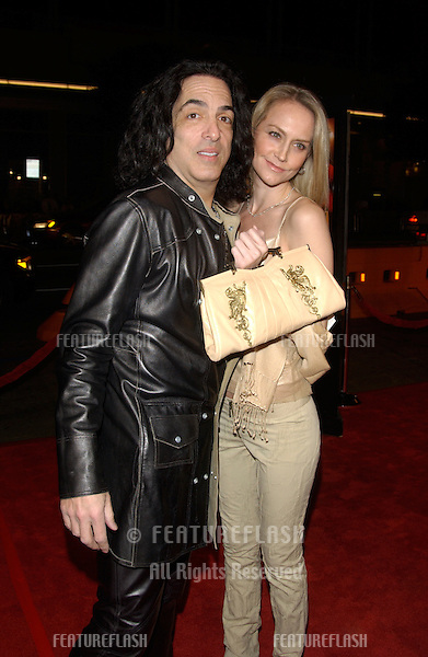 KISS star PAUL STANLEY & wife at the world premiere in Hollywood of Against the Ropes..February 11, 2004