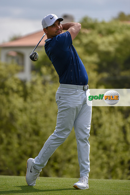 Jason Day (AUS) watches his tee shot on 3 during day 2 of the WGC Dell Match Play, at the Austin Country Club, Austin, Texas, USA. 3/28/2019.<br /> Picture: Golffile | Ken Murray<br /> <br /> <br /> All photo usage must carry mandatory copyright credit (© Golffile | Ken Murray)