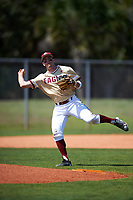 Boston College Eagles shortstop Johnny Adams (8) during practice before a game against the Central Michigan Chippewas on March 3, 2017 at North Charlotte Regional Park in Port Charlotte, Florida.  Boston College defeated Central Michigan 5-4.  (Mike Janes/Four Seam Images)