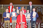Confirmation day for the pupils of Killahan NS Abbeydorney on Thuirsday in St Bernards Church Abbeydorney by Fr Tadgh Fitzgerald, GFronnt l-r: Jack Parker,Denis Costello Fr Tadgh Fitzgerald, Thomas Rigney and Shane Conway. Back l-r: Fr O'Mahony, David Tagney Linda Fitzgerald and Gerard Doyle (teacher).