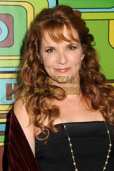 LEA THOMPSON  .HBO 2011 Post Golden Globe Awards Party held at The Beverly Hilton Hotel, Beverly Hills, California, USA..January 16th, 2011.headshot portrait black strapless top skirt necklace burgundy maroon.CAP/ADM/BP.©Byron Purvis/AdMedia/Capital Pictures.
