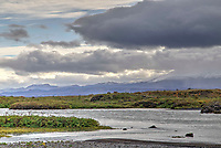 Mount Hekla Volcano from Pjorsa River