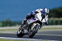 PHILLIP ISLAND, 26 FEBRUARY - Leon Haslam (GBR) riding the BMW S1000 RR (91) of the BMW Motorrad Motorsport Team during Superpole qualifying for round one of the 2011 FIM Superbike World Championship at Phillip Island, Australia. (Photo Sydney Low / syd-low.com)